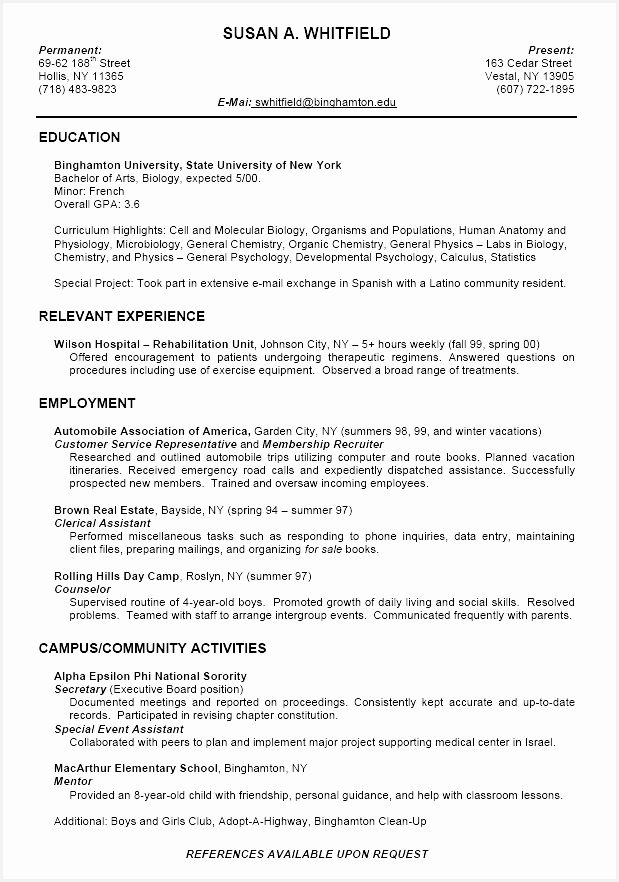 Creative Resume Templates Inspirational Example A Resume Fresh Student Resume 0d Wallpapers 42 Awesome882619