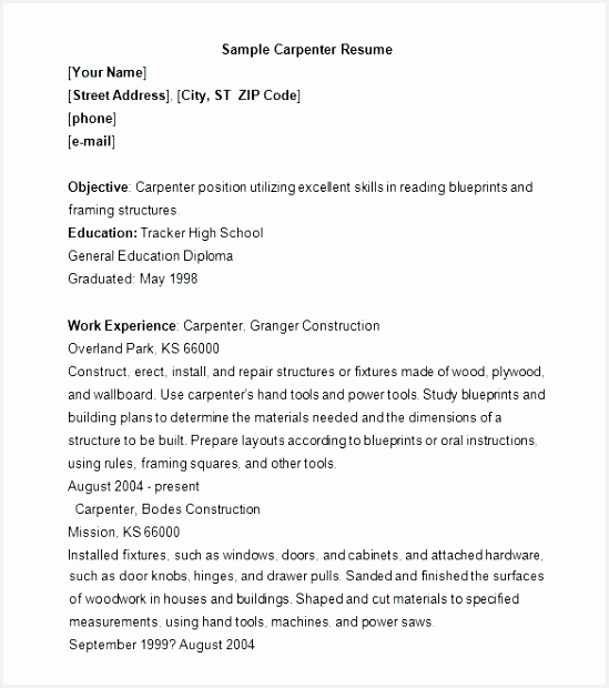carpenter resume samples bunch ideas of framing carpenter resume sample excellent carpenter resume template 9 free620549