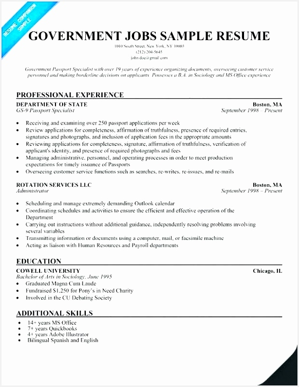 56 Best Federal Government Resume752582
