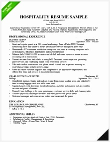 Use our hospitality resume sample to learn how to write a convincing resume that will land you more interviews Get your dream job start reading now285221