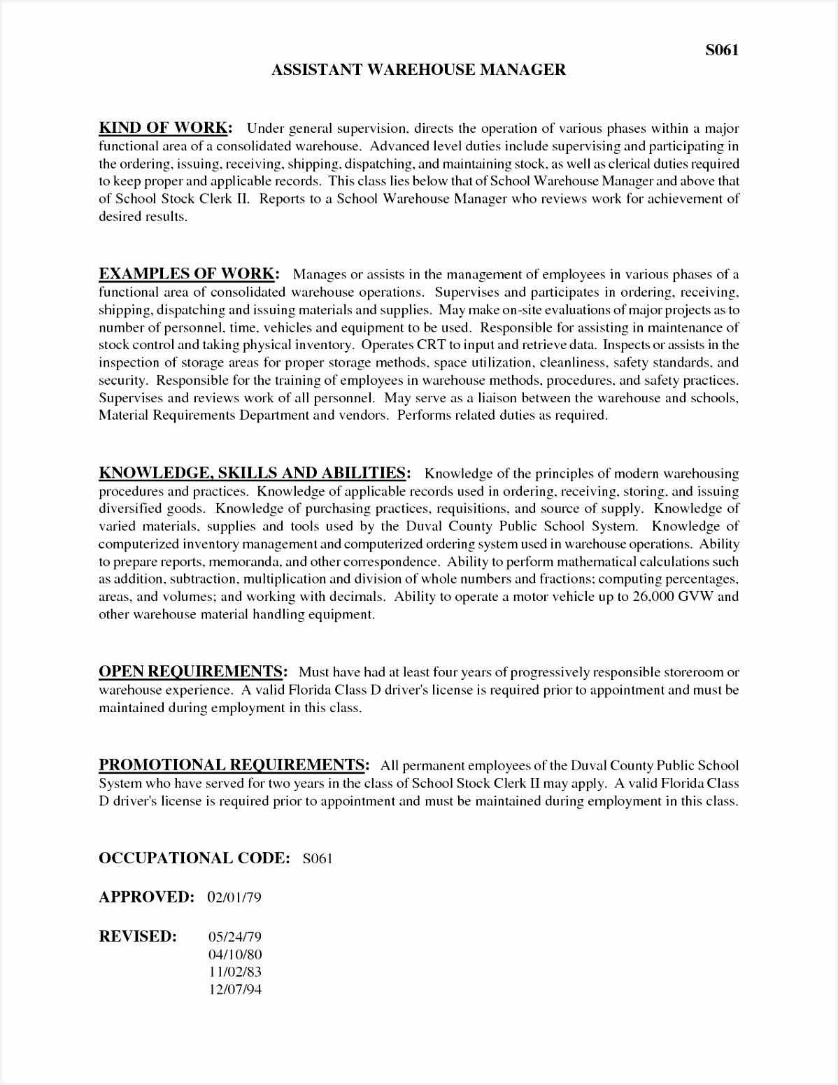 27 Fresh Receiving Clerk Resume Sample15511198
