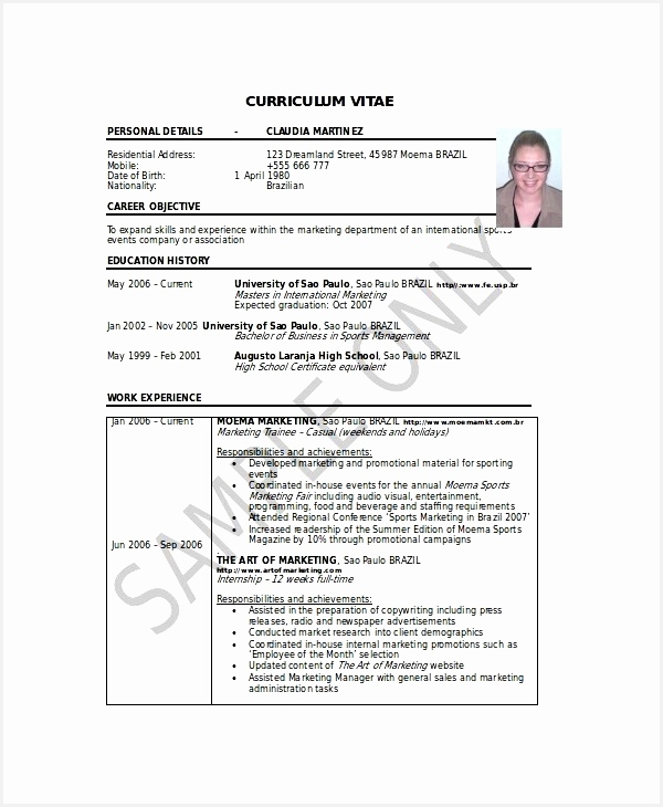14 cv resume example format education resume examples730600