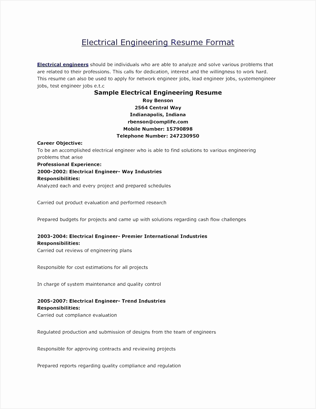 Contract Stress Engineer Sample Resume Nljaa Beautiful Resume format for Design Engineer In Mechanical Fresh Sample Resume15511198