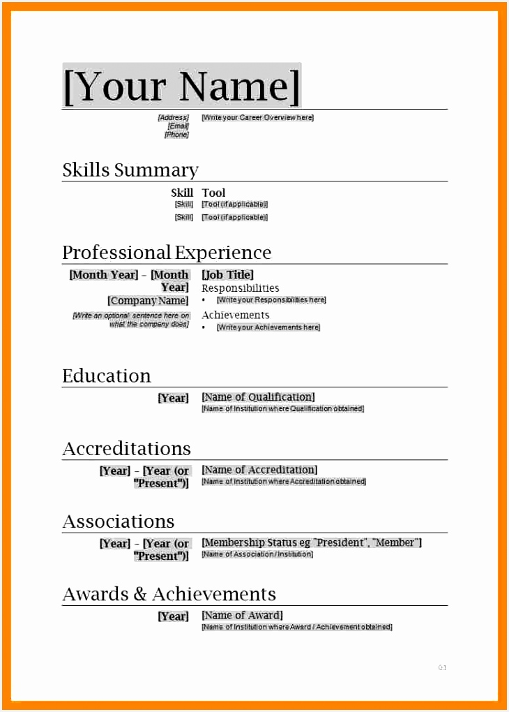 Resume Template Ms Word 2007 Inspirational Download Resume Templates Microsoft Word Od Free Cv Template 1020730c0kjfg