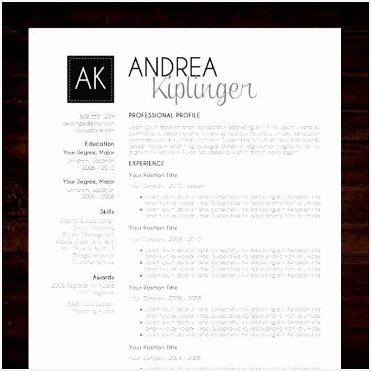 "INSTANT DOWNLOAD RESUME TEMPLATE WORD FORMAT ☆ Need a resume design makeover The ""AMANDA resume template has a modern and clean design with 5355357baoe"