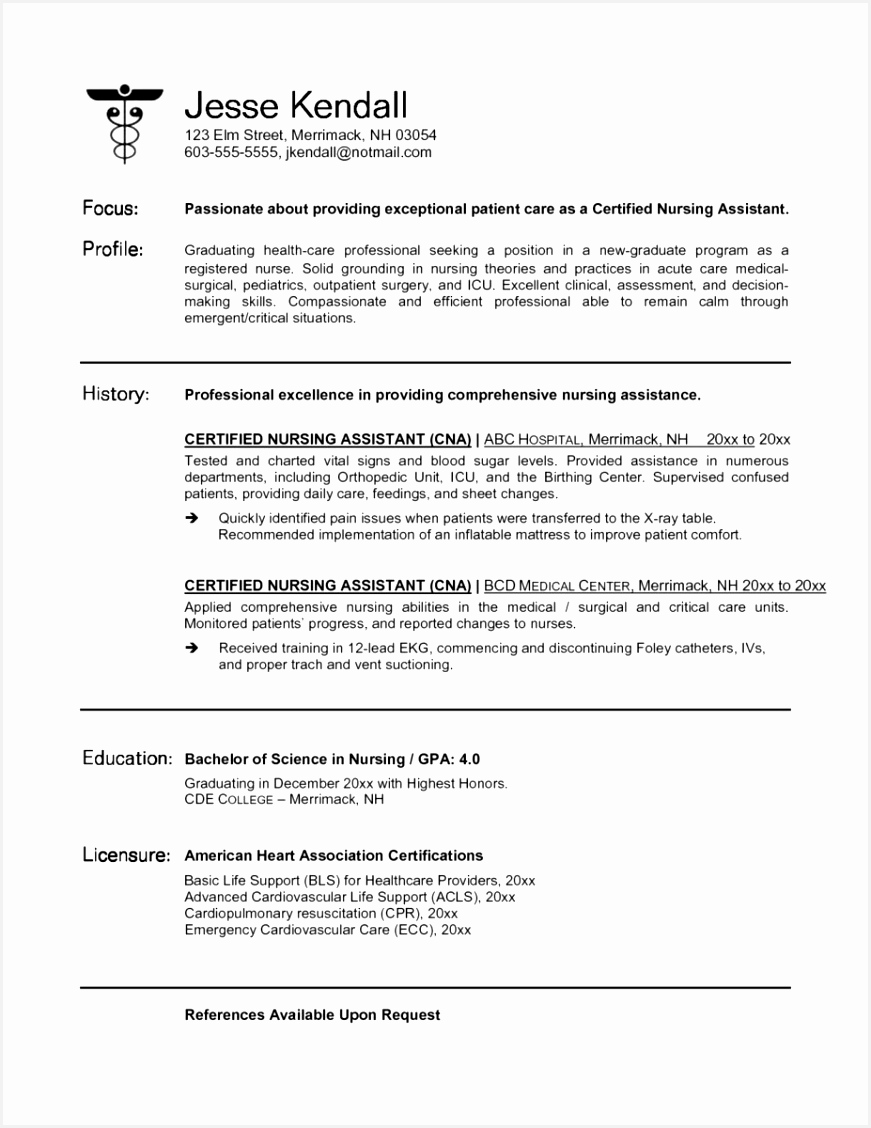 New Rn Resume Templates New Grad Nurse Resume Best Rn Bsn Resume Awesome Nurse Resume 0d 1128871ghzvg