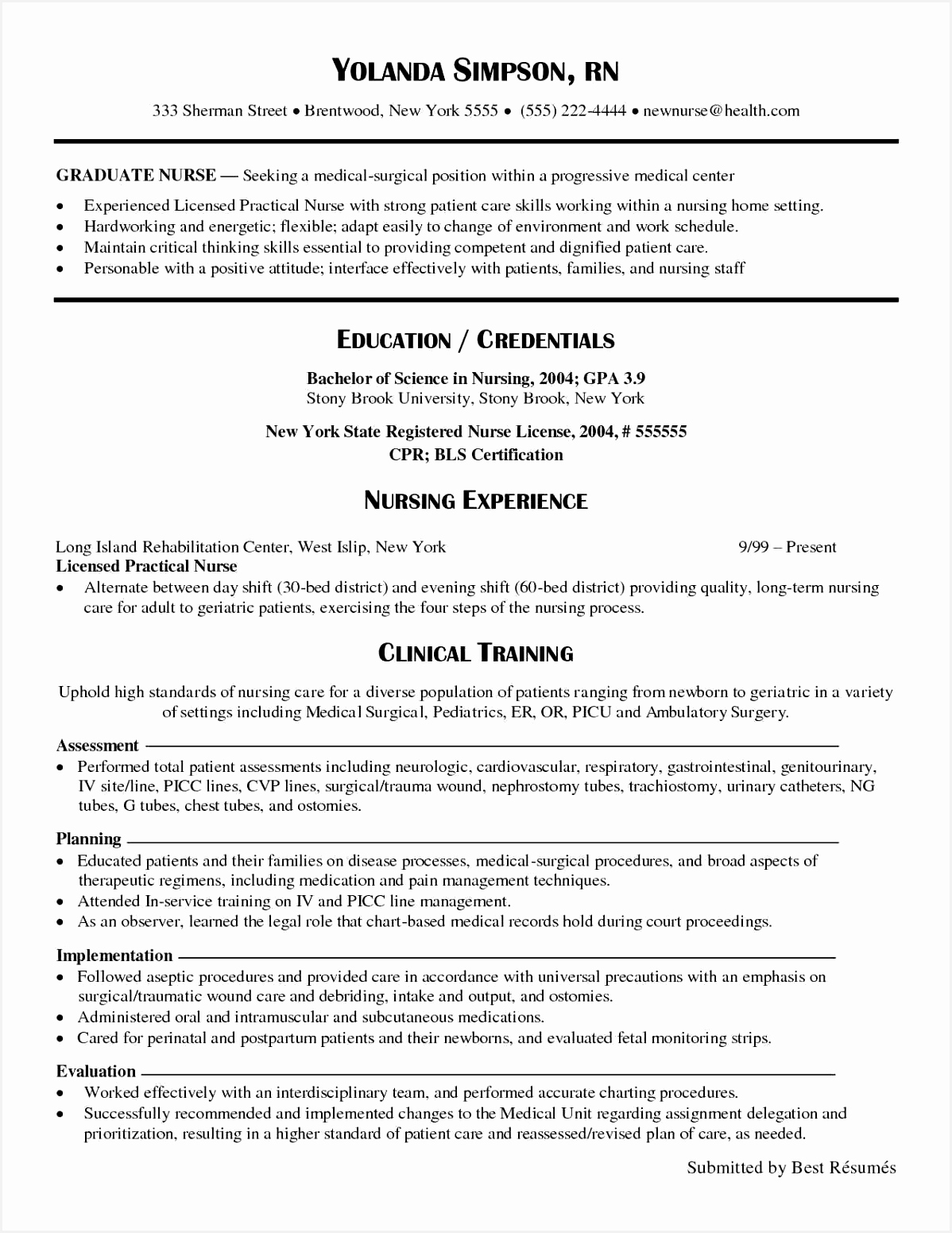 Examples Of Registered Nurse Resume Eavom Fresh Nurse Resume Sample Lovely Elegant New Nurse Resume Awesome Nurse Of 9 Examples Of Registered Nurse Resume