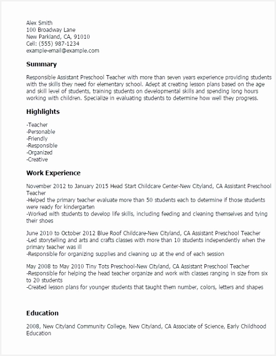 Head Teacher Resume Fgras Lovely Child Care assistant Resume Sample Perfect assistant Teacher Resume725562