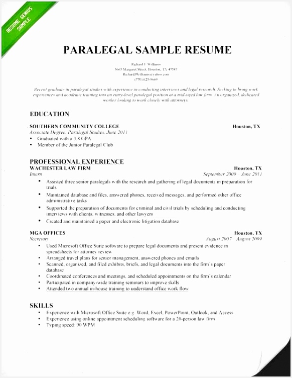 Sample Paralegal Resume 0d Wallpapers Information 7525827hlde
