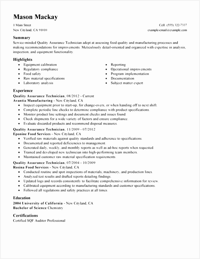Quality Control Inspector Resume Sample Refle Luxury 49 Advanced Quality Control Resume Mi A – Resume Samples Of Quality Control Inspector Resume Sample Fghjg Inspirational Recruiter Resume Sample — Resumes Project