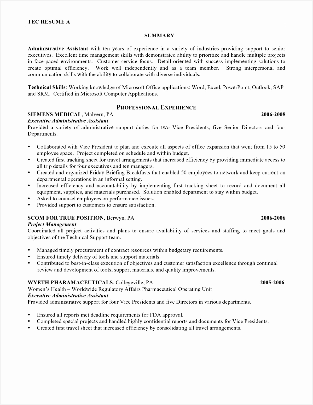 Resume Examples Executive assistant Tsynq Luxury Best Admin Resume Sample New Administrative assistant Resume Of 5 Resume Examples Executive assistant