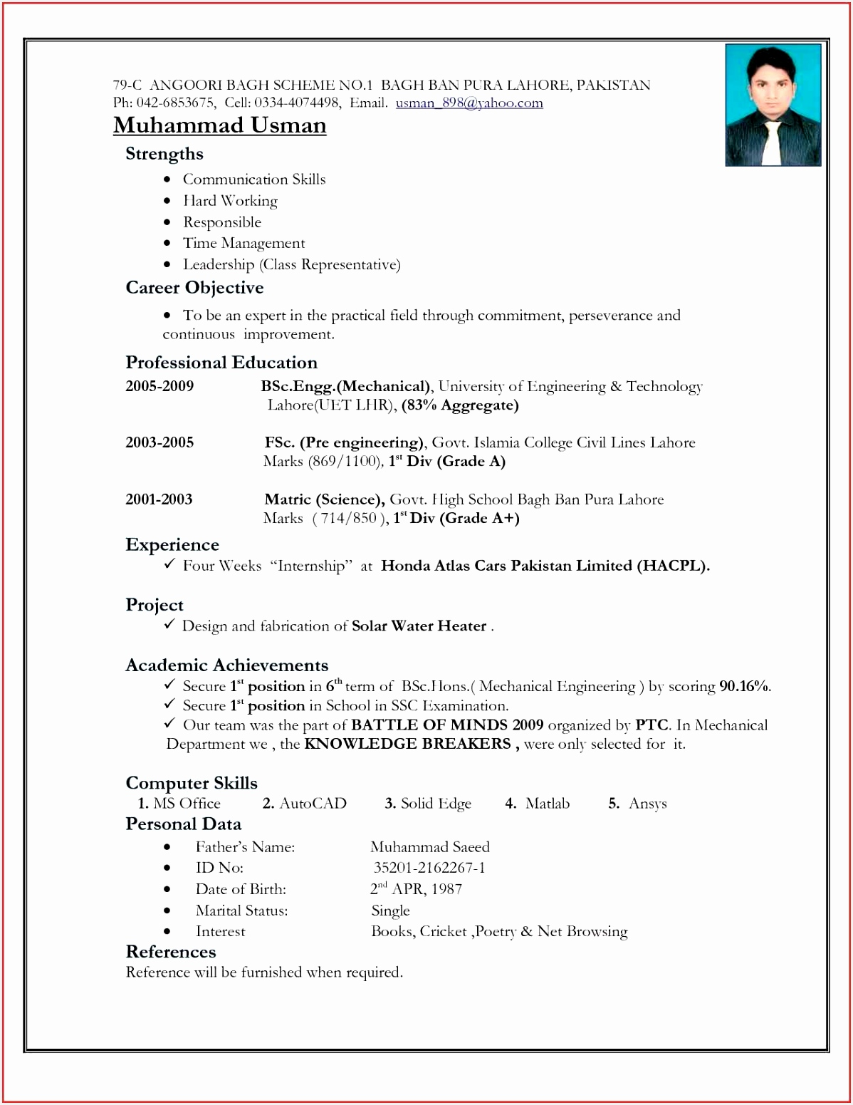 Resumes format for Freshers N8daq Luxury Good Resume formats Best Of Best Resume format for Freshers Free15511198