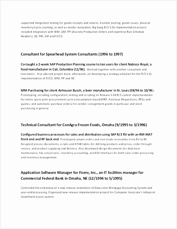 Sample Management Resume Unique Technical Manager Resume @ Sample Bank Management Resume