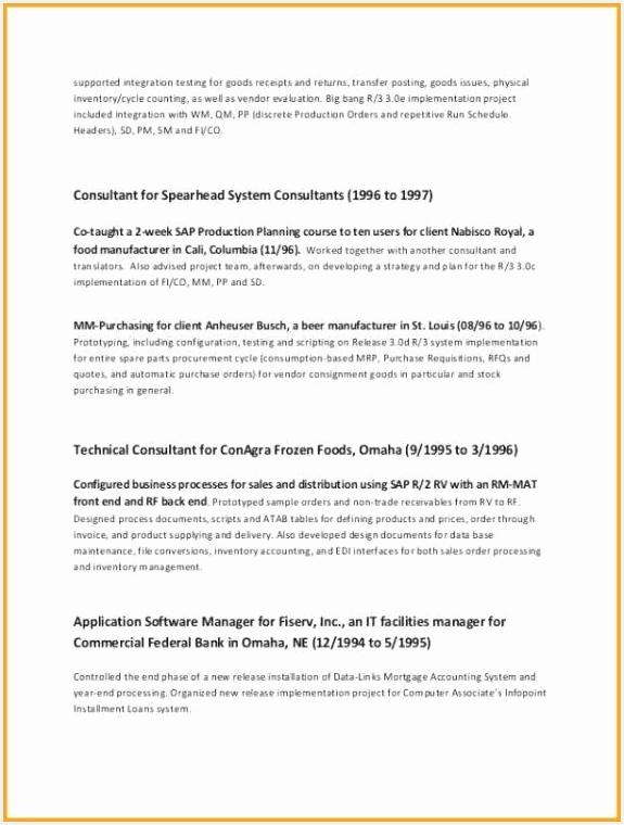 Sap Basis Administrator Resume Sample Sample Cv Examples New Hybrid Resume Template From Resume Examples 0d 760575wlcTi