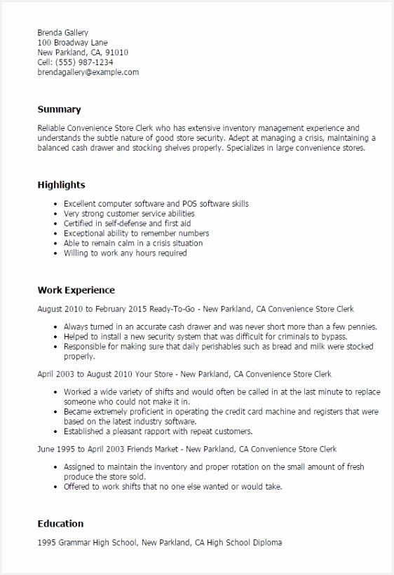 Sample Resume For Store Clerk Best Resume Now Customer Service 821562vhqeu