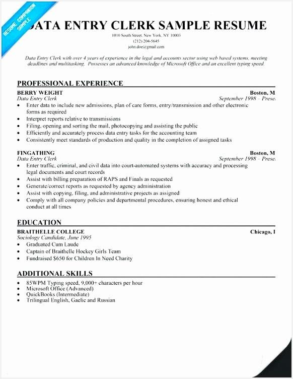 Assignment Clerk Sample Resume Oktwb New Data Entry Clerk Resume – Breathelight Of 5 assignment Clerk Sample Resume