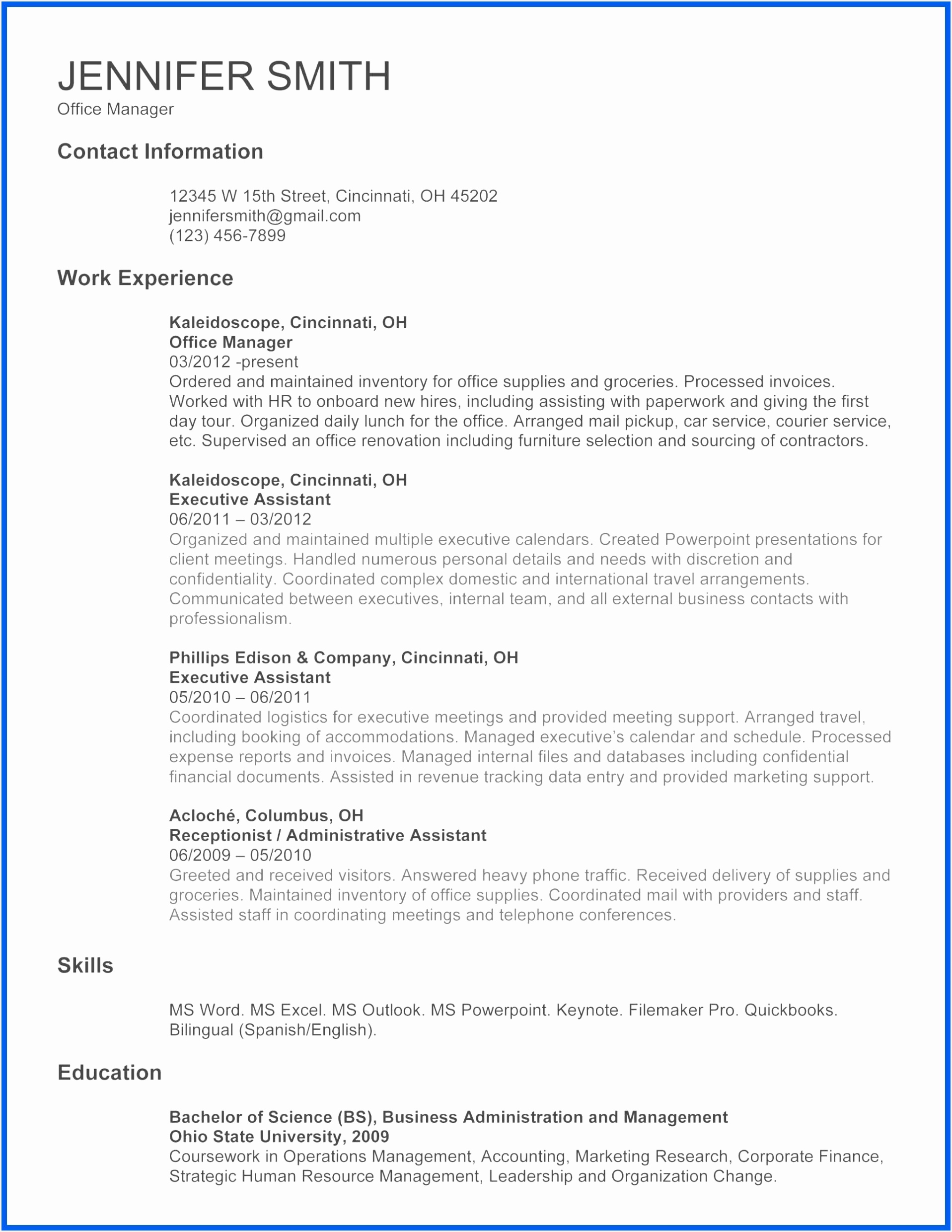 fice Manager Resume Template Elegant ¢Ë†Å¡ Career Change Resume Template Unique Business Resume 0d Free 24811917cnczt