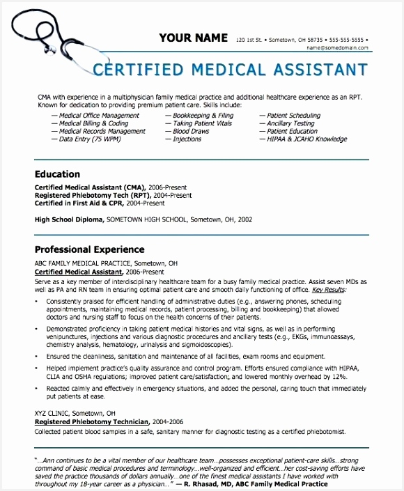 Certified Medical assistant Resume Sample B4hgb Best Of Sample Medical assistant Resume New social Media Template Free Doc Of 4 Certified Medical assistant Resume Sample