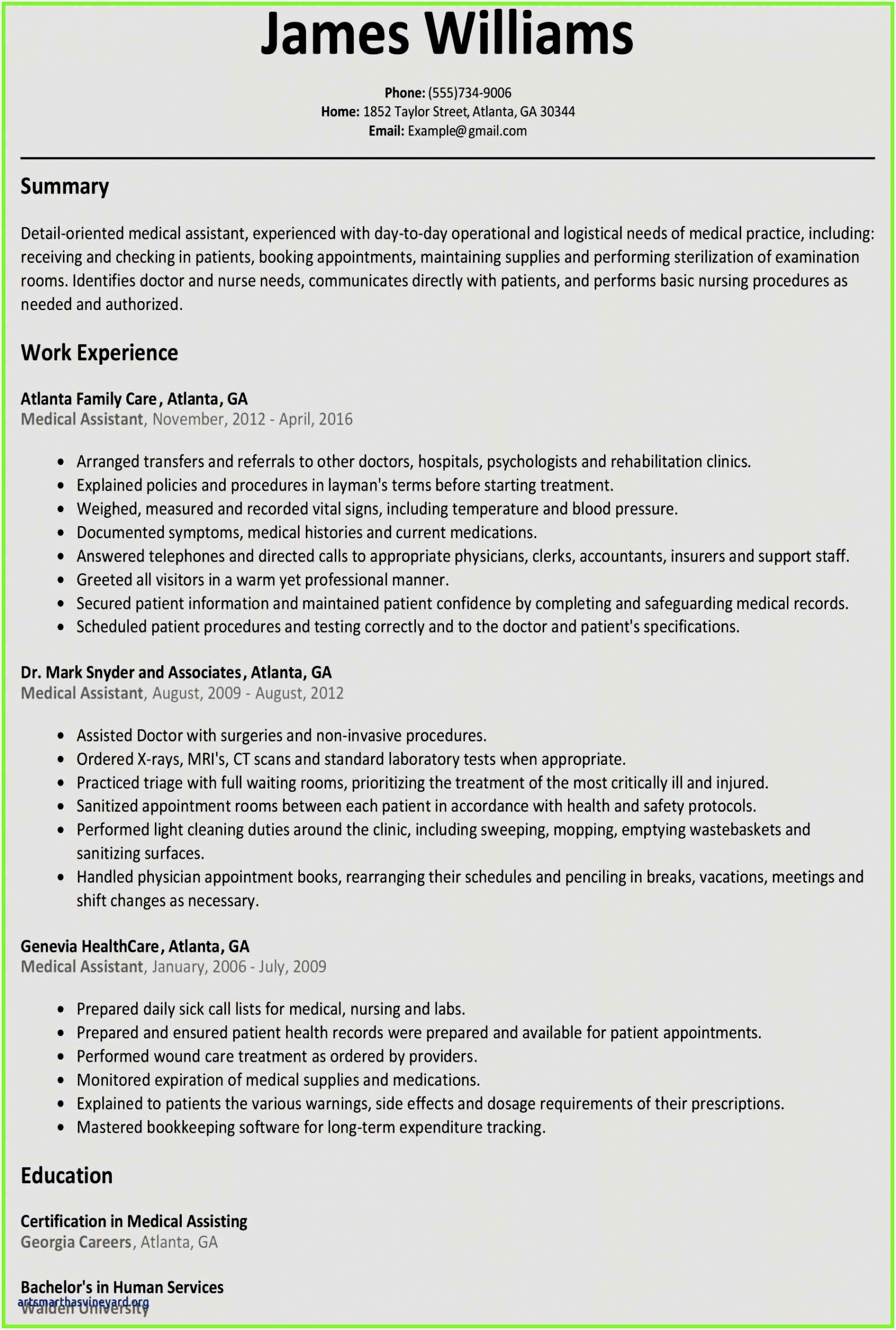 Certified Medical assistant Resume Sample Cgqzh Best Of Free Resume Evaluation Online Of 4 Certified Medical assistant Resume Sample