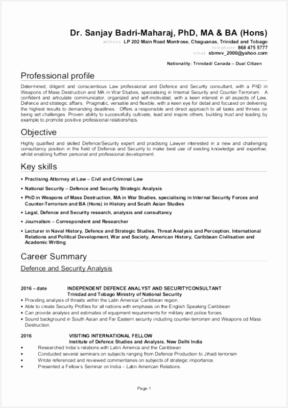 Security ficer Resume Objective Trainer Resume Sample attractive Example Job Awesome Examples resume template online 798564jkuua