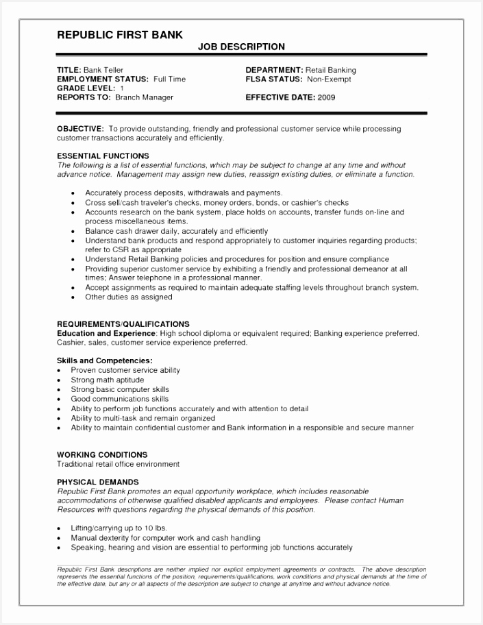 Resumes for Bank – Skills Resume Template Inspirational Resume Examples 0d Skills 9127054knjl