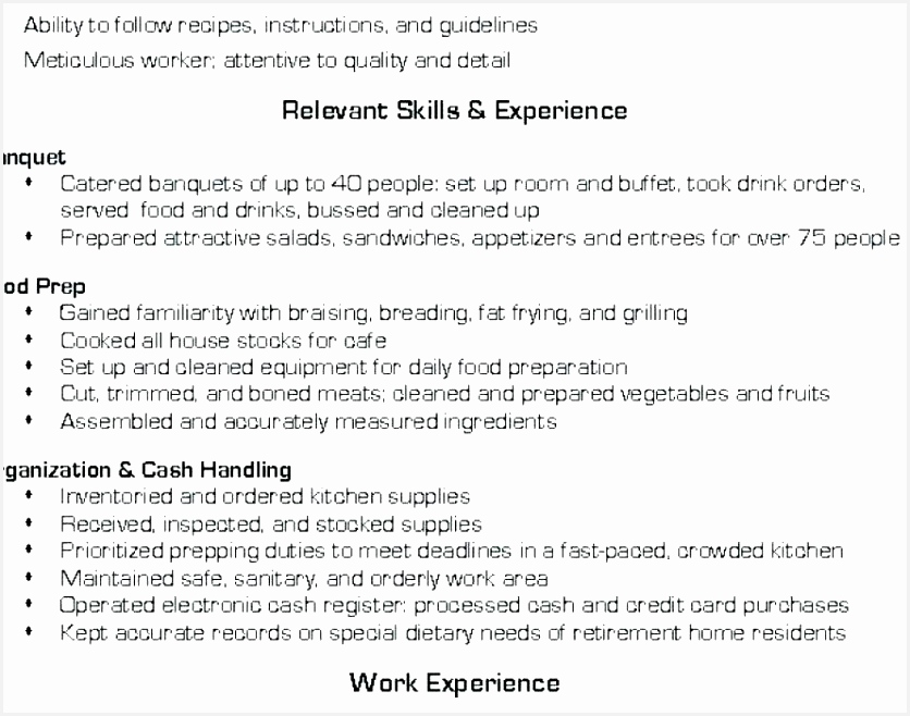 Cook Resume Objective Examples Uydru Beautiful Lead Cook Resume Examples for Job Description Awesome Line Of 7 Cook Resume Objective Examples