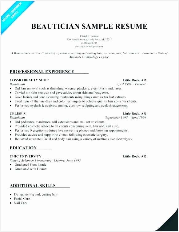 Cosmetology Student Resume L3rvw Beautiful Discreetliasons752582
