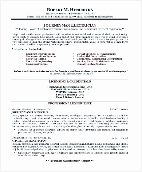 Electrical Apprentice Resume Sample Wgsfh New Sample Resume for Industrial Electrician Outstanding Apprentice Of 10 Electrical Apprentice Resume Sample