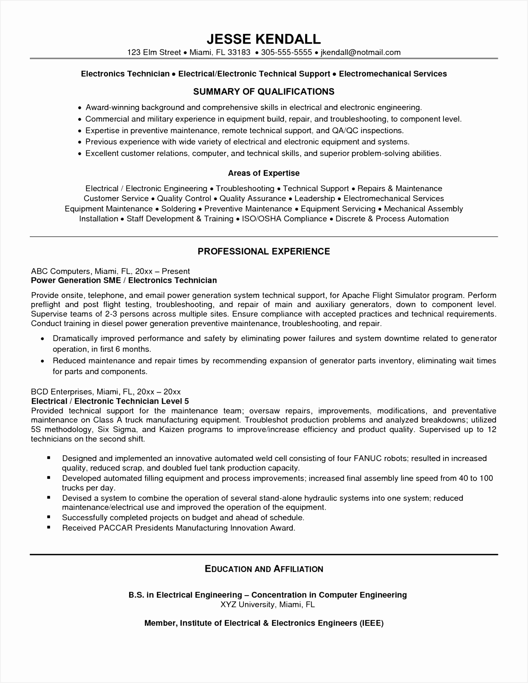 Electrical Engineering Resume Template Dgfaw Elegant 30 New Electronic Engineering Resume Sample Picture Of Electrical Engineering Resume Template Xvhgb Beautiful Resume Template for software Engineer Unique software Engineer