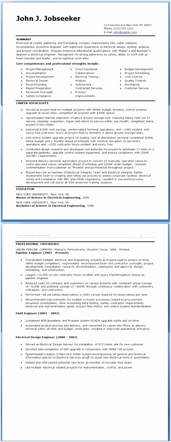 Electrical Field Engineer Sample Resume Ucuau Fresh Entry Level Electrical Engineering Resume Elegant Entry Level Resume Of 6 Electrical Field Engineer Sample Resume