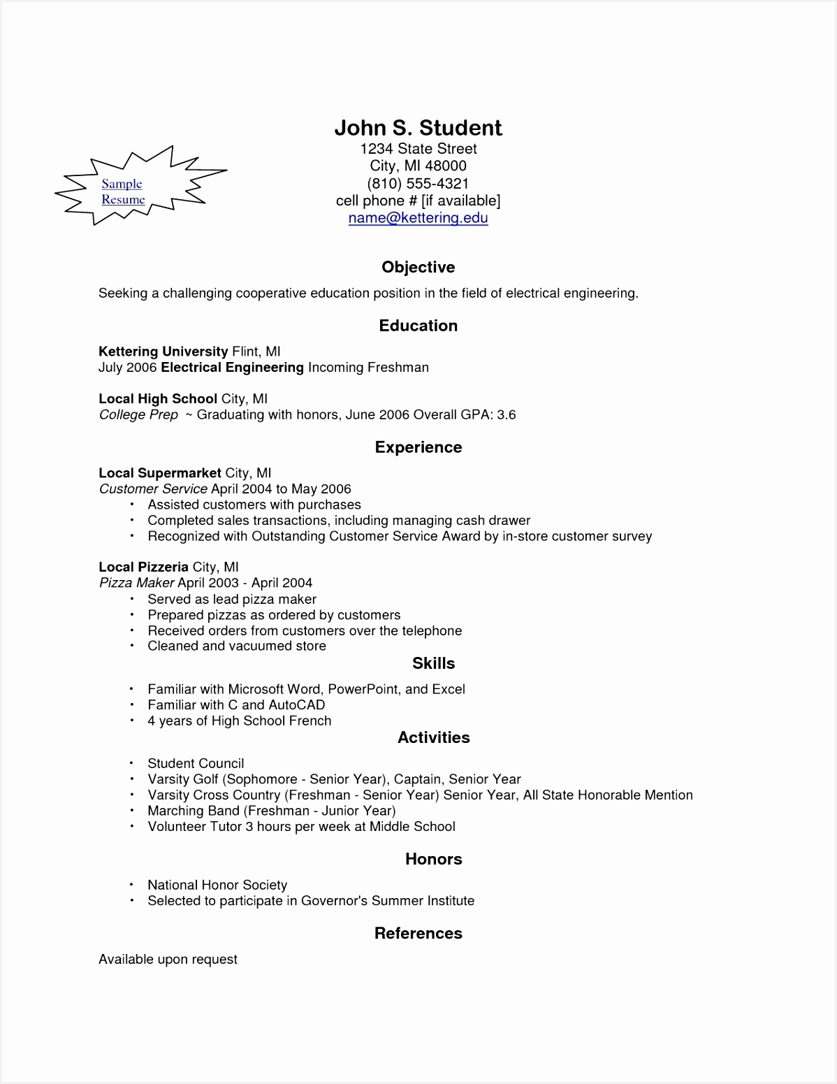 Engineering Student Sample Resume Zbewm New Resume Builder for Students Sample Resume Maker Line Awesome Best 0d15511198