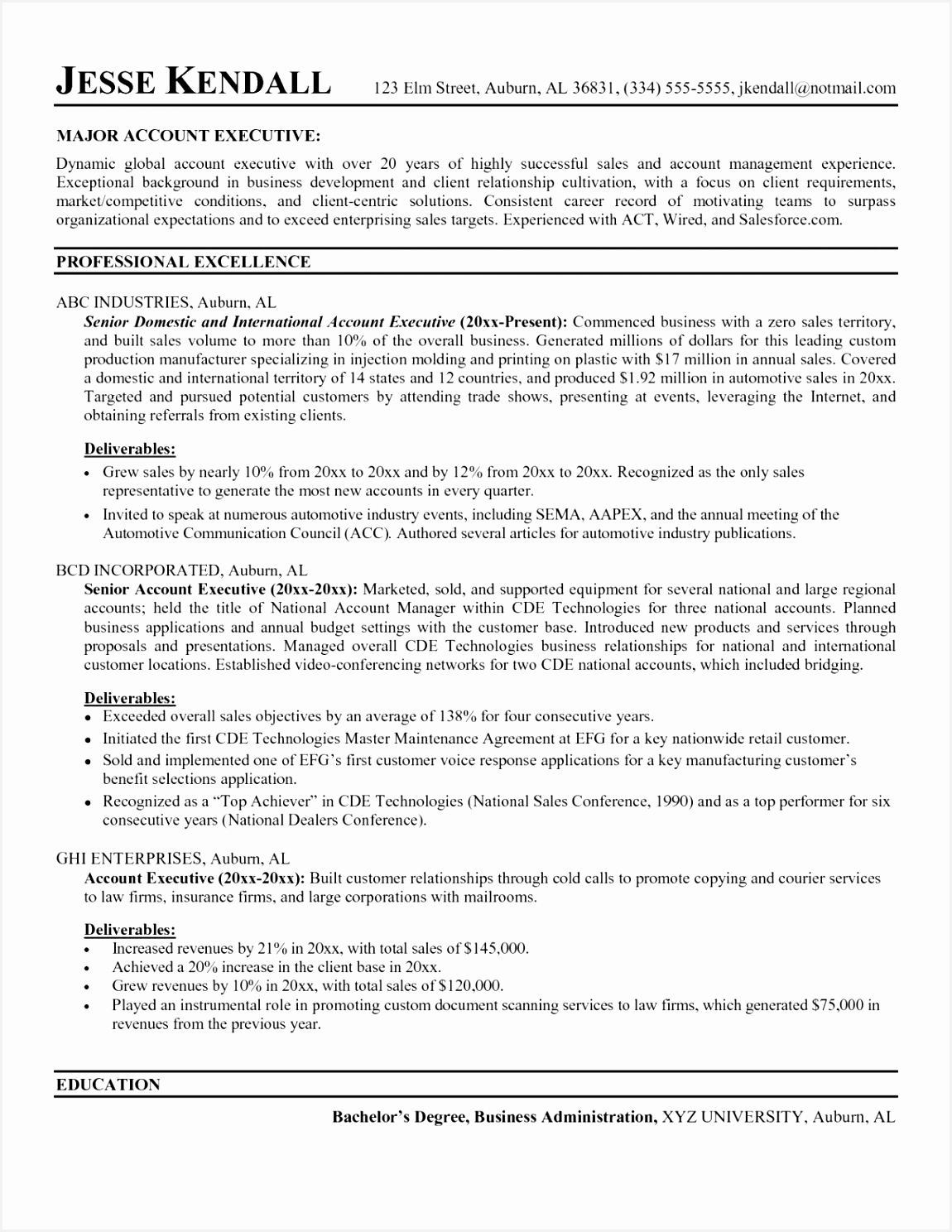 10 enterprise sales resume cbtcgm