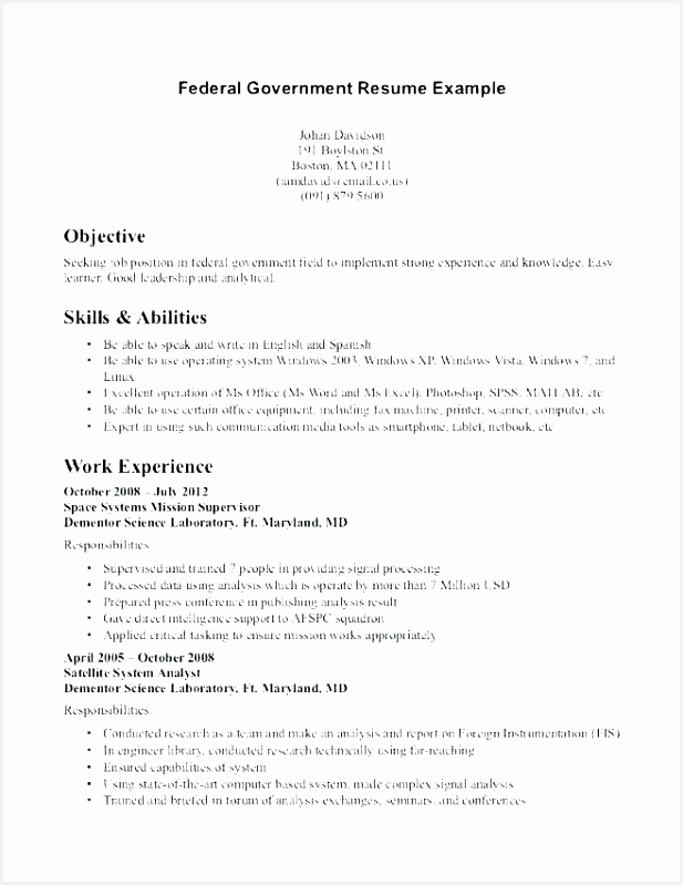 Resume Outline Examples Fresh Resume Samples 0d Skilled Labor Resume 7996175uvnt