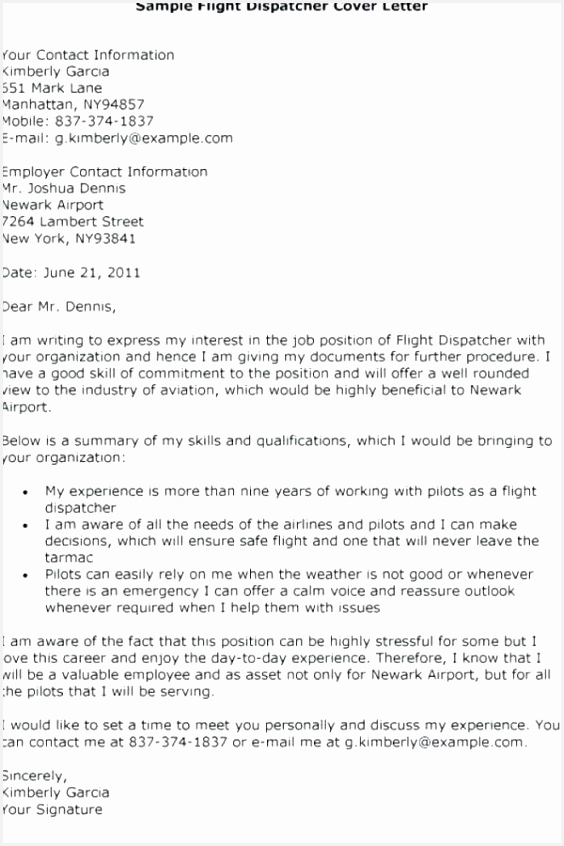 Free Resume Cover Letter Examples W8ujk Unique Resume Cover Letter Examples for Dispatcher New S Free Resume846564