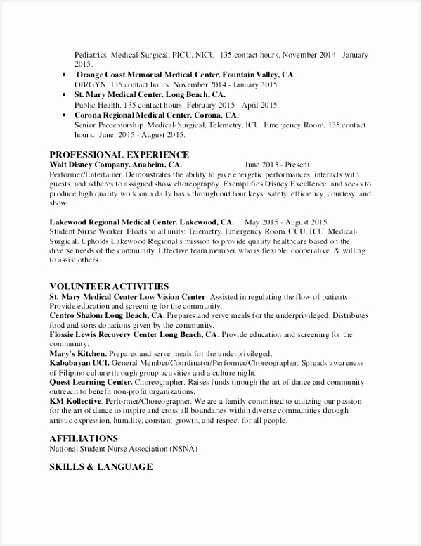 Sample Graduate Nursing Resume – Nurse Resume 0d Wallpapers 42 Sample Healthcare Resume 776599dugue