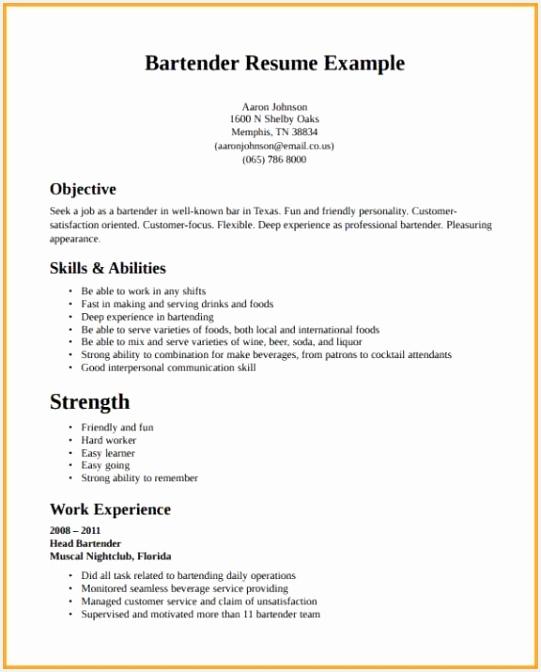 How to Get A Resume U6igg Unique Cv Munication original Bartender Cv Sample – Server Bartender Of 5 How to Get A Resume