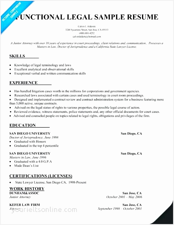 Law School Sample Resume Itatt Beautiful Law Resume Lovely Law School Resume Luxury Resume 45 Unique Legal752582
