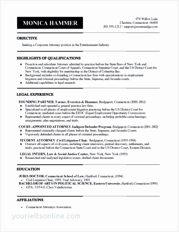 Law School Sample Resume Nkddn Fresh 18 Free Law Resume744575