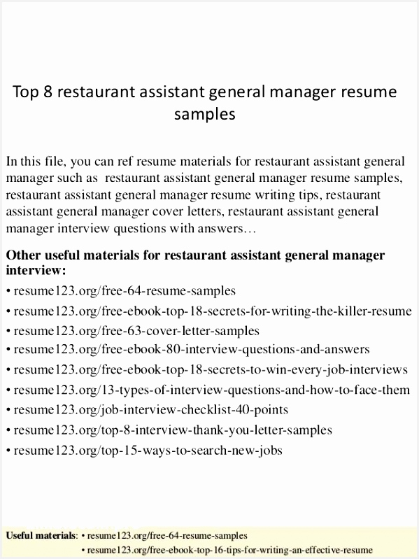 Manager assistant Sample Resume Rbfnk Awesome 24 Super Waitress Resume Skills Examples Of Manager assistant Sample Resume E2elo Luxury assistant Manager Job Description Resume Examples 29 Bank Manager