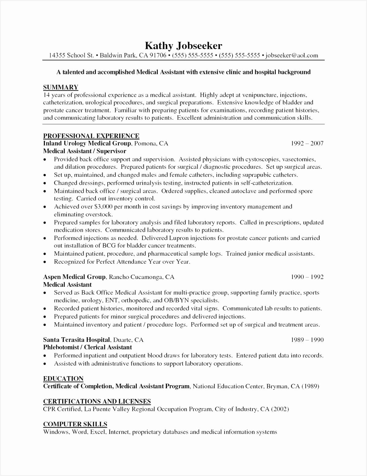 Medical assistant Resume Sumtz Luxury Sample Medical assistant Resume Of 8 Medical assistant Resume