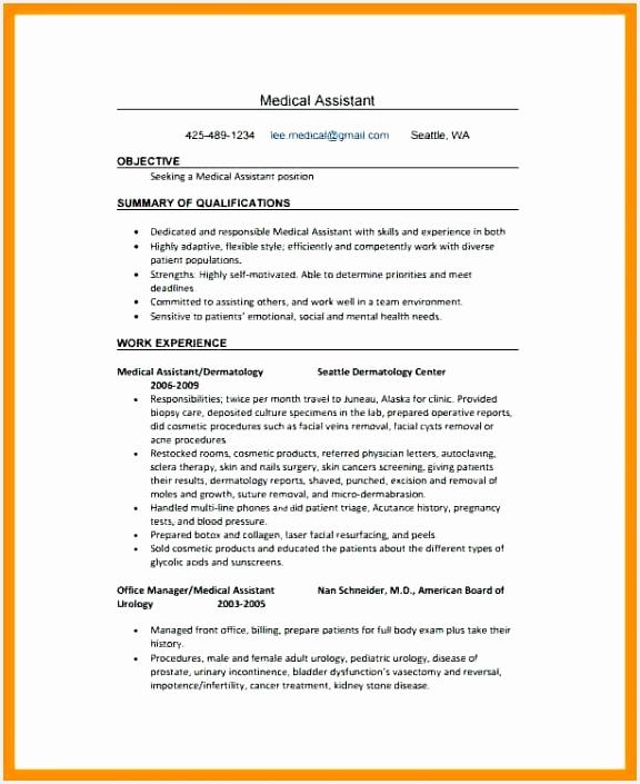 Medical assistant Resume Xjeng Luxury Sample Medical assistant Resume Elegant Medical assistant Resumes Of 8 Medical assistant Resume