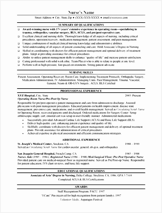 Nurse Resume Objective Examples Nycap New General Resume Objective Elegant Best Sample College Application736561