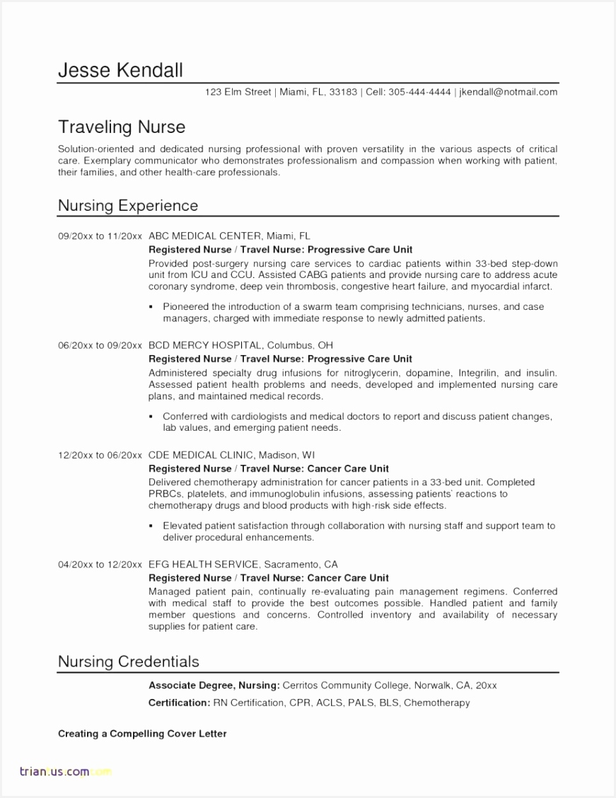 Nurse Technician Resume Vhkww Elegant Sample Resume Nurse Staff Of 7 Nurse Technician Resume