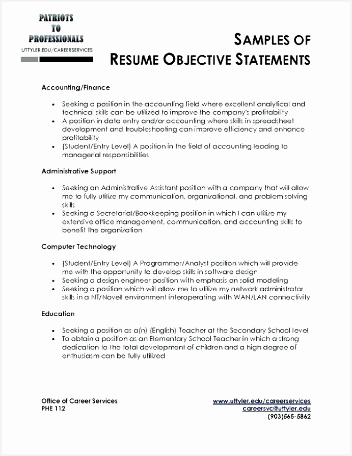 10 objective for a job resume wqmsha