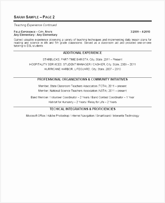 Relief Worker Sample Resume H5lap Lovely 11 Doc Resume Examples for Education Jobs692564