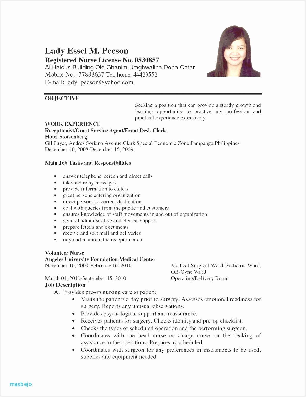 Cover Letter for A Receptionist with No Experience Cna Resume Sample New Skills Lovely Bsw 0d Best format Template 15511198uIaIq