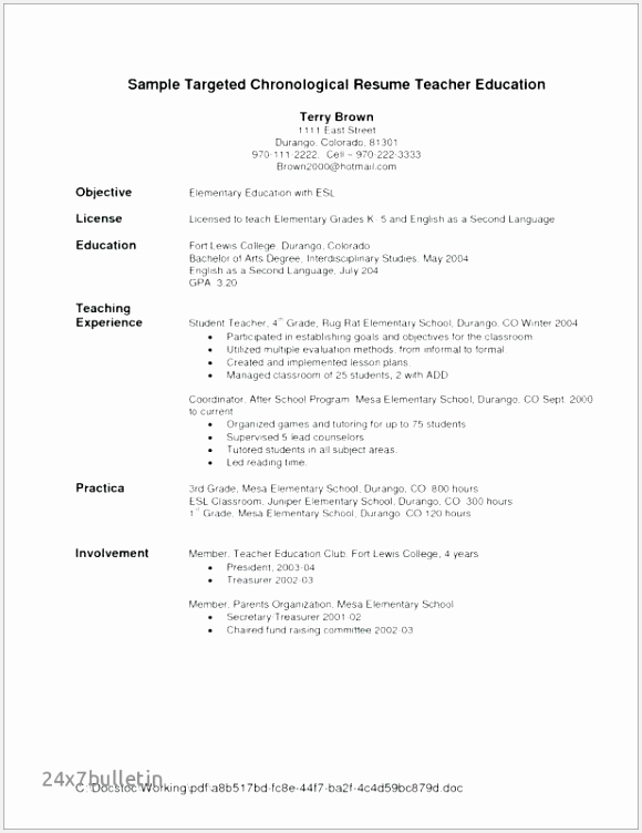 Resume Examples for Teaching Fcexh Elegant Math Tutor Resume Examples Fresh Sales Resume Objective Resume752580