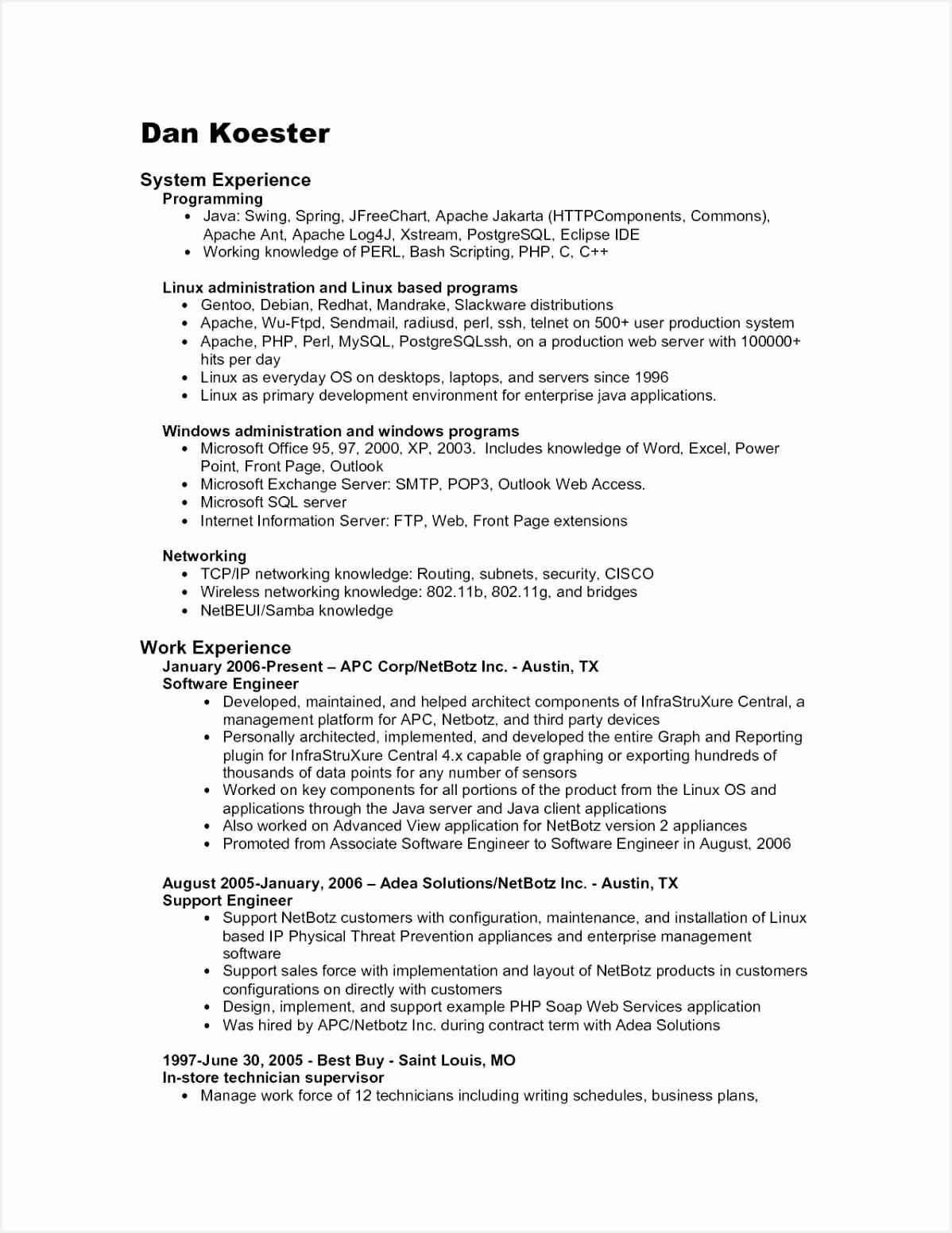 Resume format for System Administrator Tehbv Beautiful 22 New System Administrator Resume format15511198