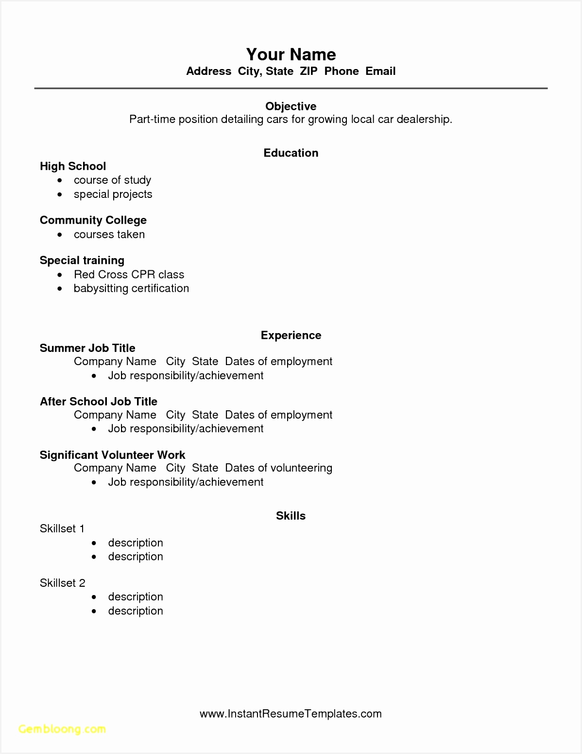 resume for students with no experience elegant resume with no work experience best resume for high 15511198cfhdf