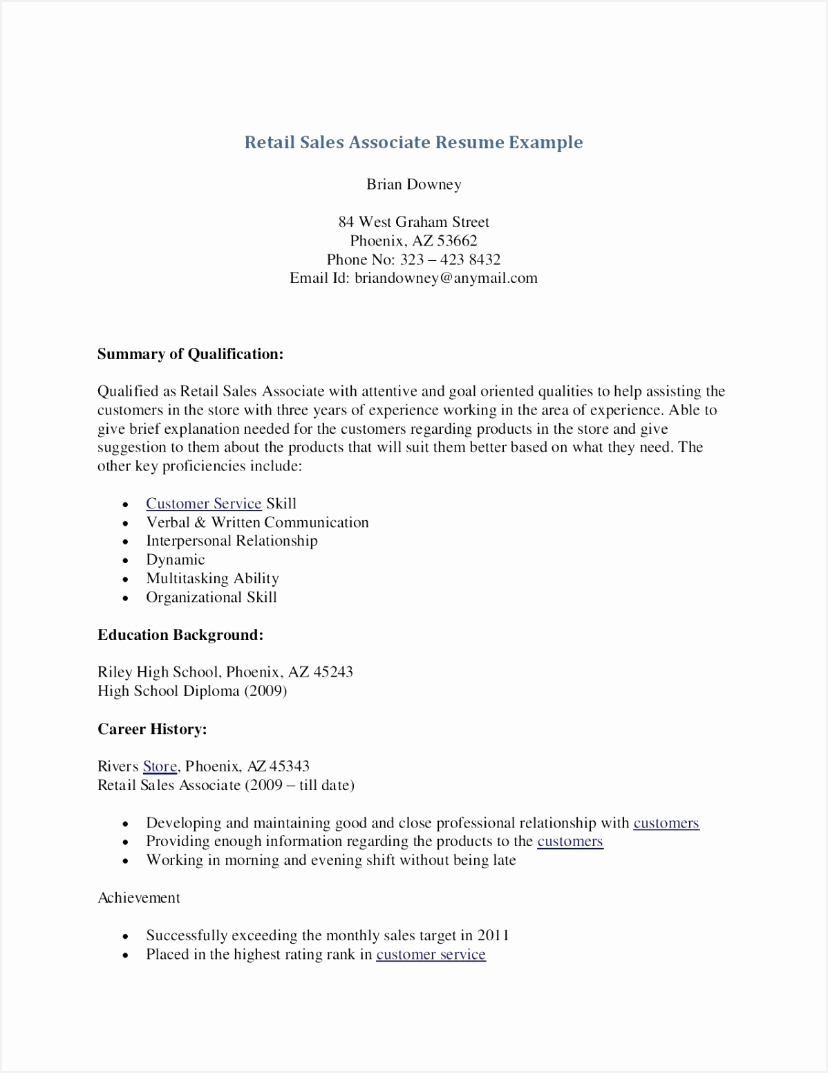 Sales associate Objective for Resume E3yfg Fresh Cover Letter for Retail Sales associate Of 7 Sales associate Objective for Resume